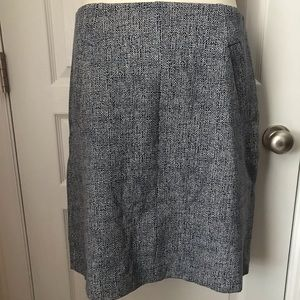 Lands End Pencil Skirt Navy & White 14